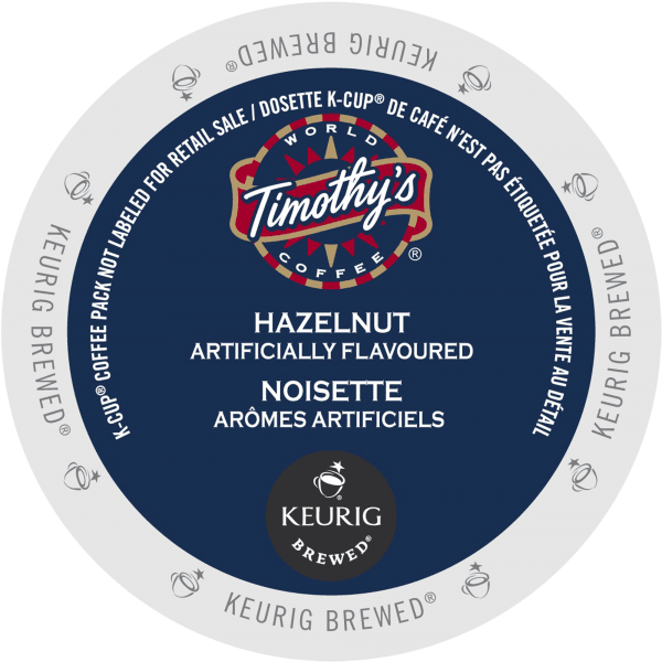 15 hazelnut coffee timothys k cup ca general 600x600 - Noisette (Timothy's) - 24