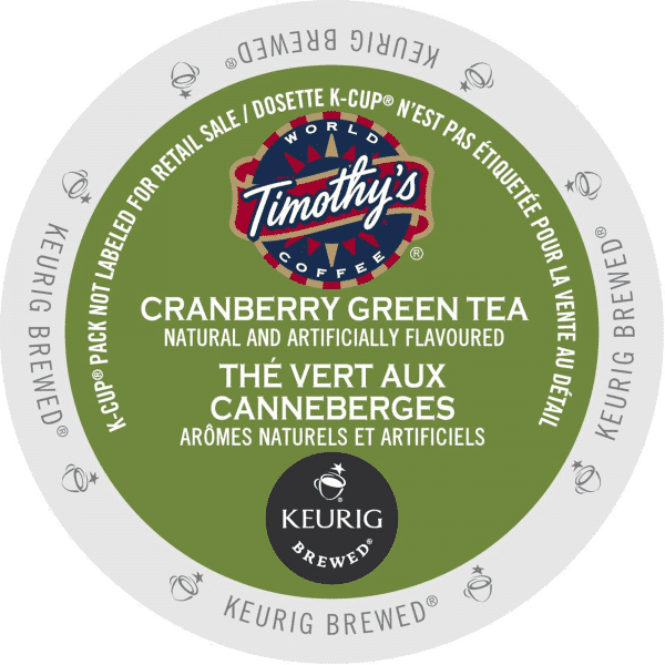 28 cranberry green tea timothys k cup ca general 600x600 - Twist aux Canneberges (Timothy's) - 24