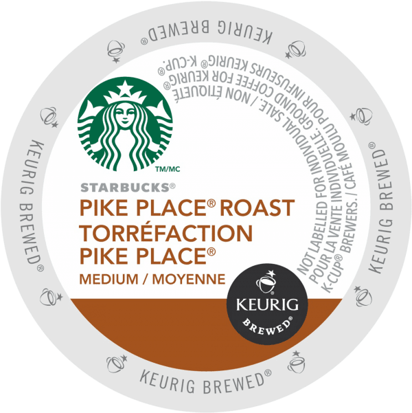 38 pike place roast coffee starbucks k cup ca general 600x601 - Keurig Pike Place (Starbucks) - 24