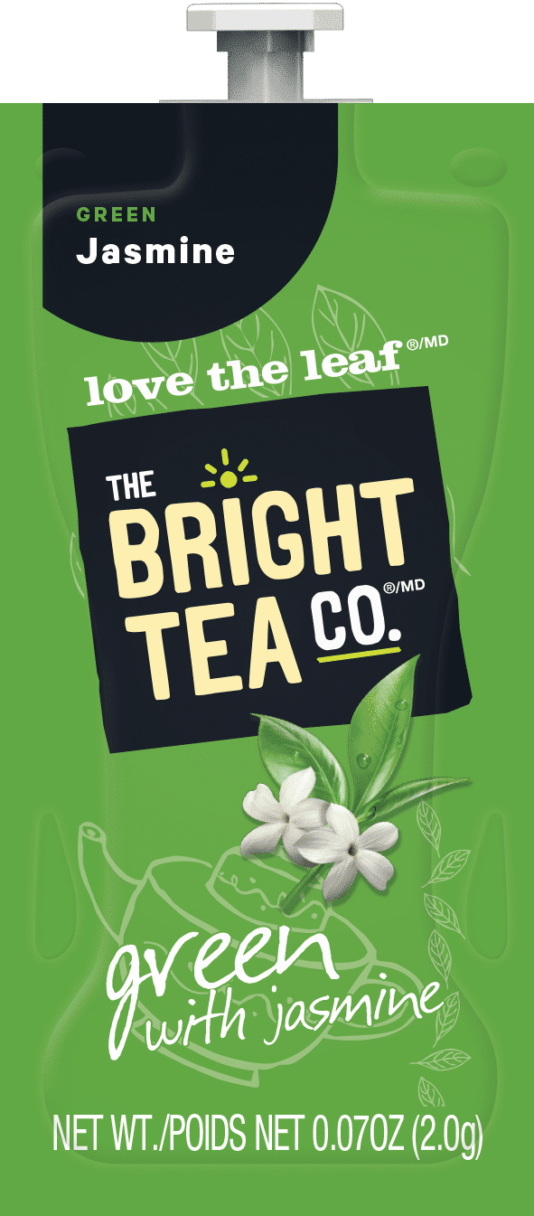87 The Bright Tea Co Green with Jasmine Freshpack NAM - Vert au Jasmin (Green & Jasmin) - 100 sachets