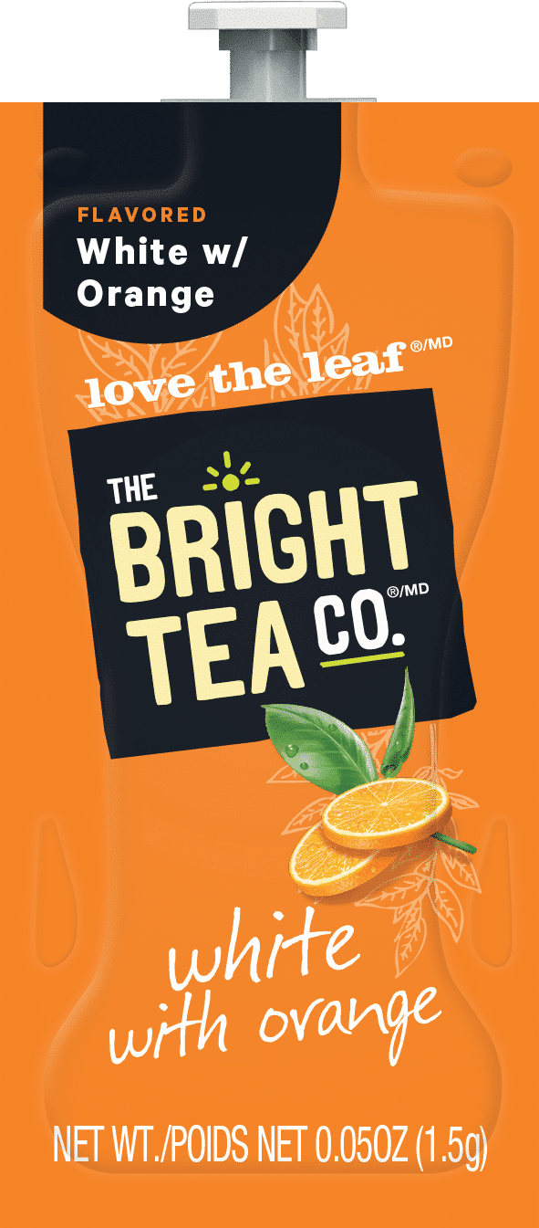 89 The Bright Tea Co White with Orange Freshpack NAM - Blanc à l'Orange (White & Orange) - 100 sachets
