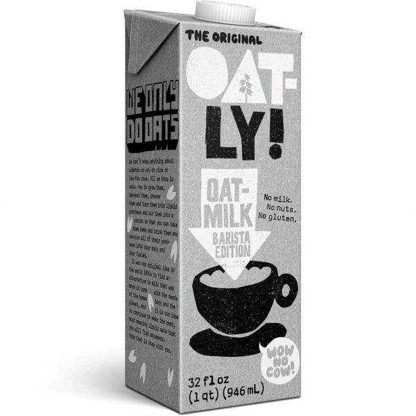 Oatly 600x600 - Lait d'avoine Oatly (6 x 946ml)