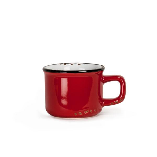 tasse espresso look email rouge lamachineacafe 600x600 - Tasse à espresso fini émail Rouge